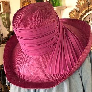 Vintage Pink Straw Hat ~ DERBY